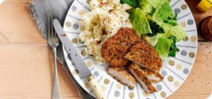 Herb-crusted pork with apple mash – Recipes – Slimming World