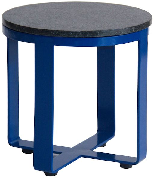 KINTAMANI SIDE TABLE  Powder coated steel with granite top Size Dia 500 x 550 mm