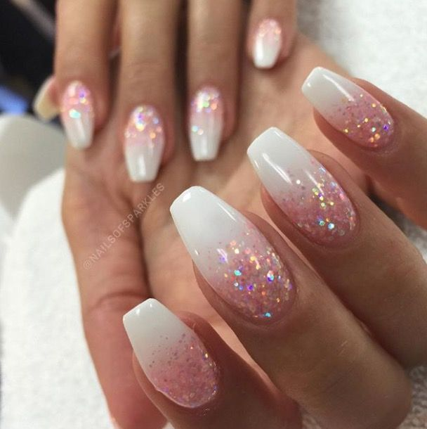 Confetti frosted nails – Nails Gelnägel