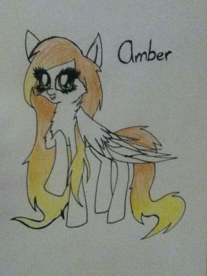 My 12 year old pegasus oc.Amber