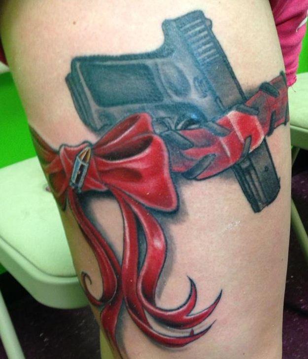 Gun in Garter, Jon Schueler, Sun Coast Tattoos, St. Pete Beach, FL  410)533-1254