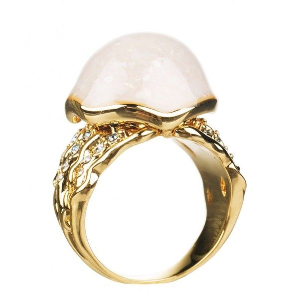 14kt Gold Plated Little Mermaid Ring from Disney Couture ($53) ❤ liked on Polyvore featuring jewelry, rings, disney couture jewelry, gold plated rings, disney couture ring, gold plated jewelry and disney couture