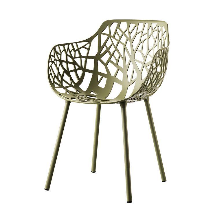Forest+Stol+Med+Armlener,+Sage+Green,+Fast+Design