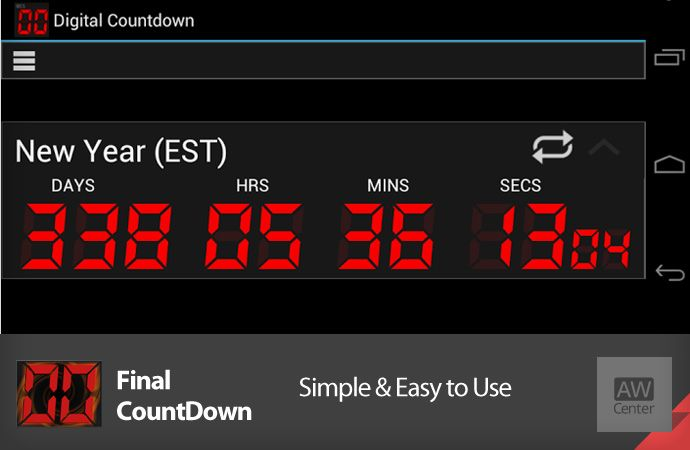 App of the day: Final Countdown