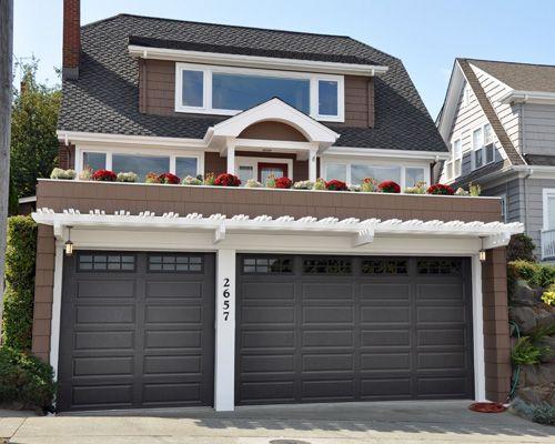 Simple arbor over garage doors & 13 best Roof Top Garden over Garage images on Pinterest | Roof top ...
