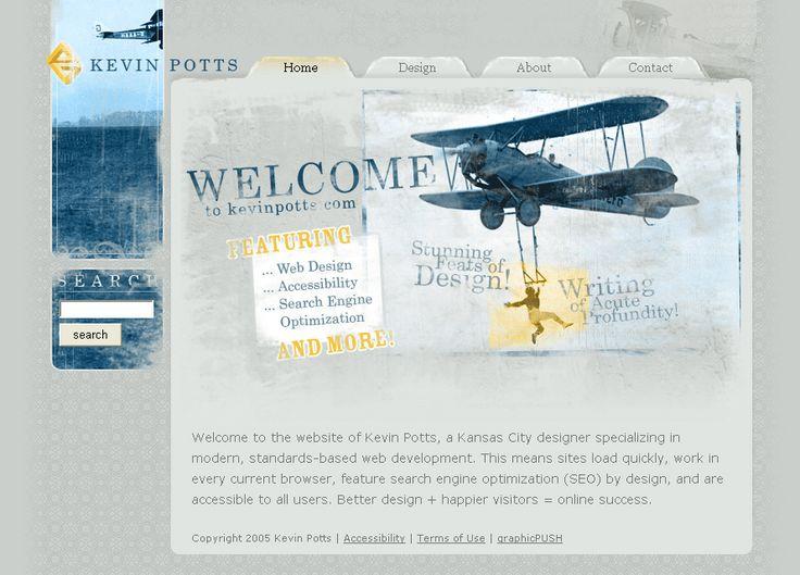 Kevin Potts website in 2005
