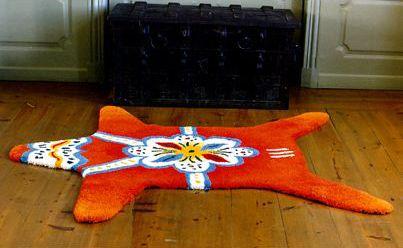 Dala horse rug by Anne Carlquist and Anna Fjällbäck