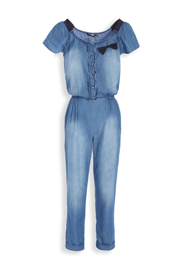 bluejean jumpsuit | 2013 spring summer short sleeve blue denim long jumpsuits for women ...