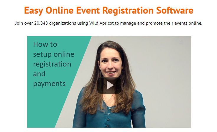 Join over 20,848 organizations using Wild Apricot to manage and promote their events online.