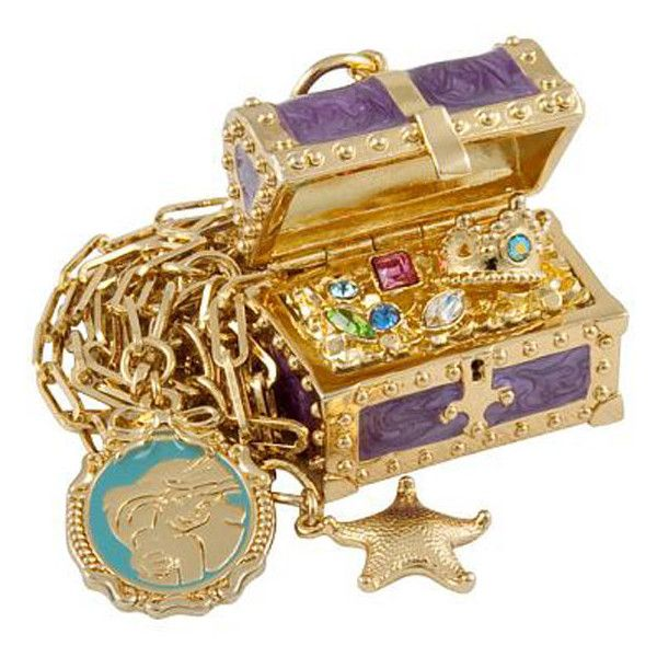 DISNEY COUTURE -THE LITTLE MERMAID TREASURE CHEST NECKLACE - Ad Hoc London found on Polyvore