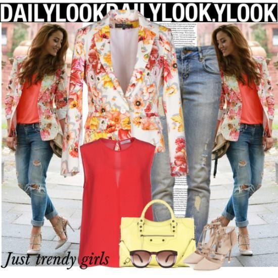 , how to wear a floral blazer Floral blazers styling ideas http://www.justtrendygirls.com/floral-blazers-styling-ideas/