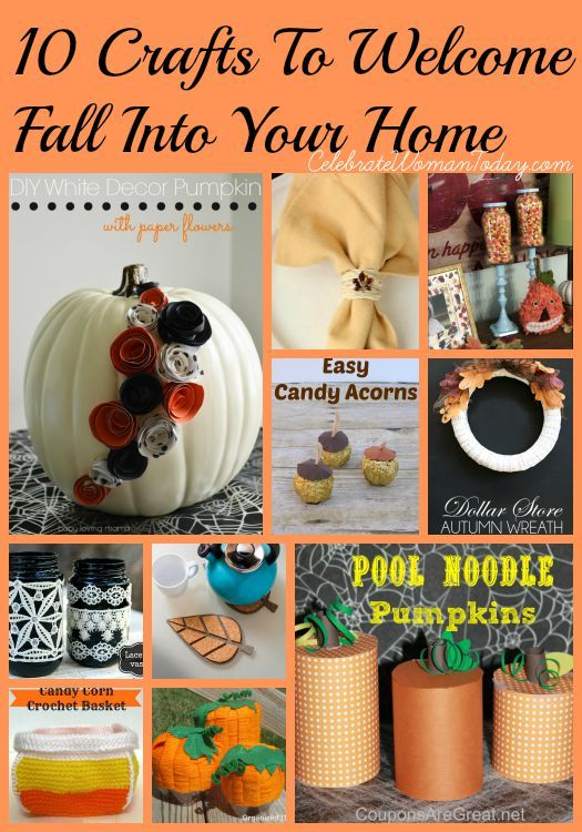 10 #Crafts To Welcome Fall Into Your Home #LaborDay #Thanksgiving