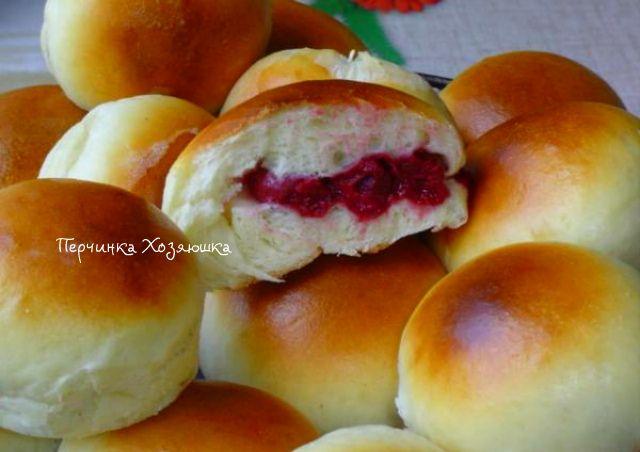 Ванильные булочки с вишней - Vypechka.Perchinka-kHozyayushka.ru