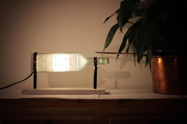 Bottle lamp wood!