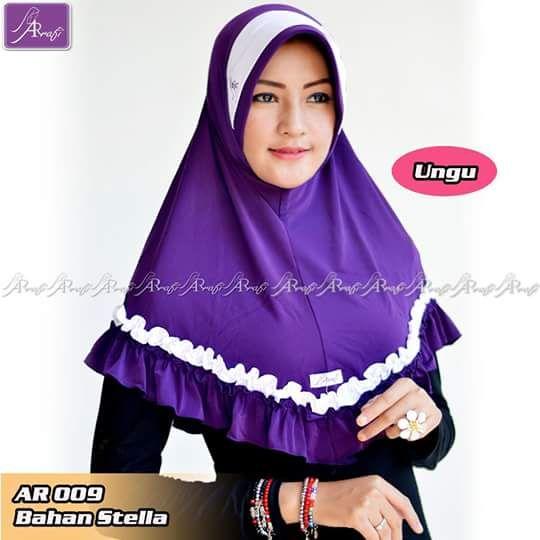 ArRafi 009 Ungu   Hijab ArRafi   ArRafi Hijab   HIjab Instan   Hijab Handmade…