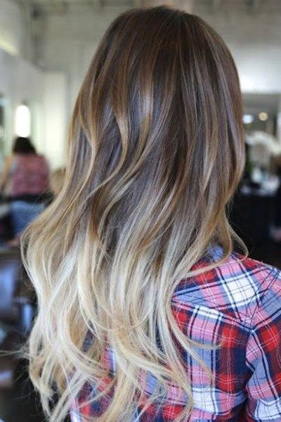And if you're interested in experimenting with the bleach blonde look, start with the ends of your hair.