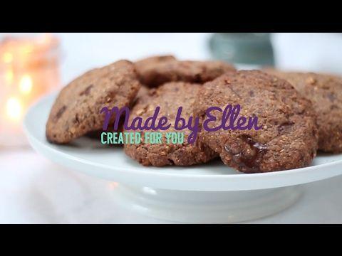 Chocolade koekjes maken met noten - recept