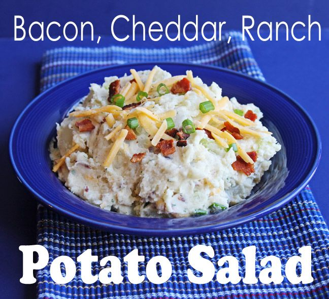 Potatoes, Cheddar Potatoes, Bacon Ranch, Potatoes Salad, Bacon