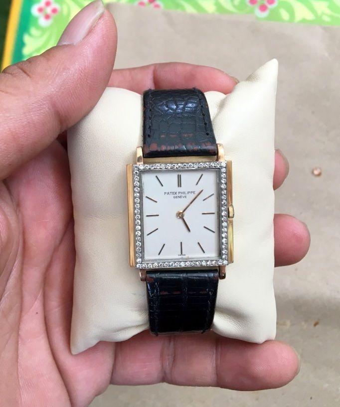 Vintage Old Original Patek Philippe 18 K Gold Diamond Watch