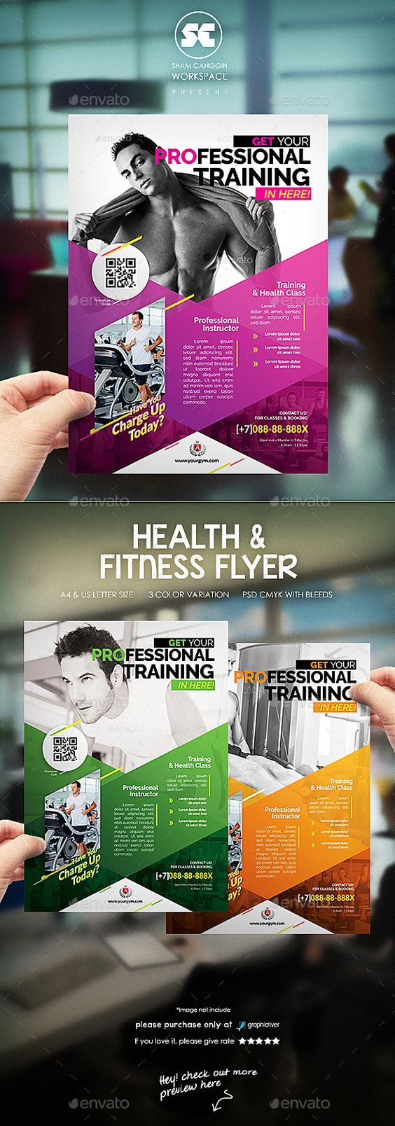 Fitness / Gym Flyer Template PSD #design Download: Http://graphicriver.