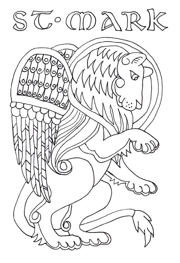 catholic church symbols coloring pages - photo#35