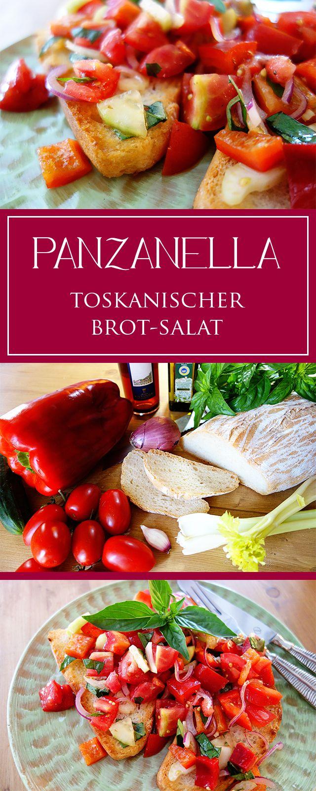 Panzanella: ein einfaches Rezept vom vegetarischen toskanischen Salat! Gesund, erfrischend, schnell gemacht & toll für den Sommer 😍😎 | cucina-con-amore.de