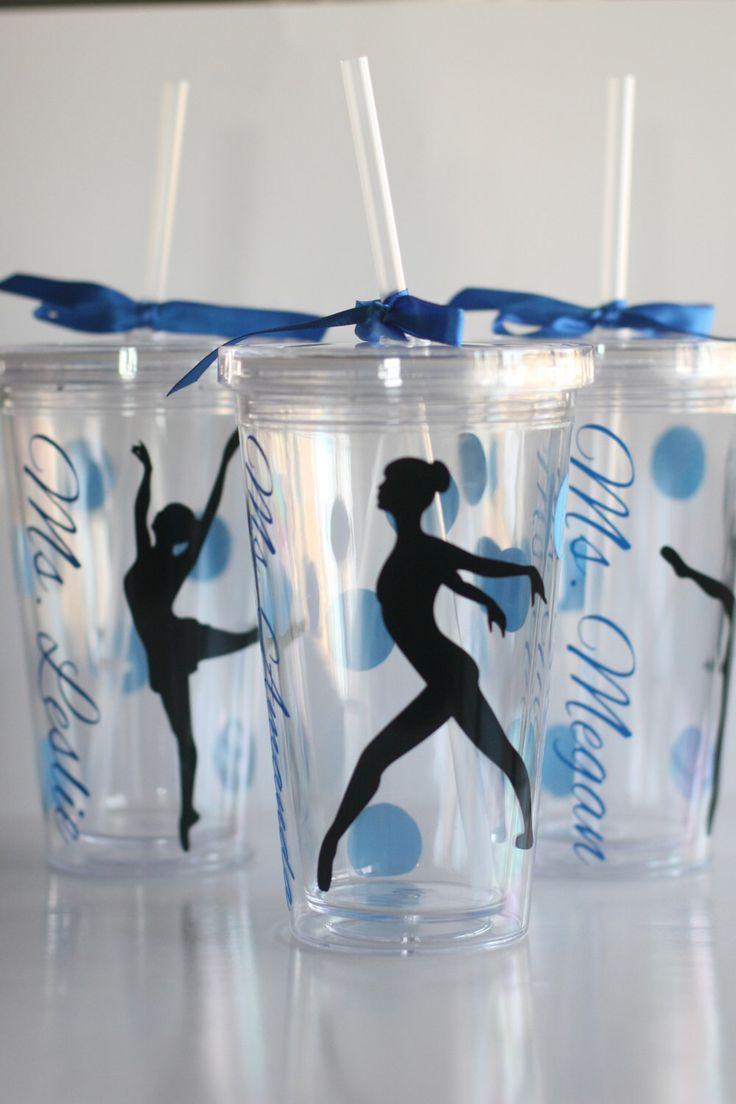 Dancer Gift, Tumbler for Dancer, Ballet Dancer, Jazz Dancer, Dance Teacher Gift, Dance Recital Gift by KatiePieDesigns on Etsy https://www.etsy.com/listing/185357101/dancer-gift-tumbler-for-dancer-ballet
