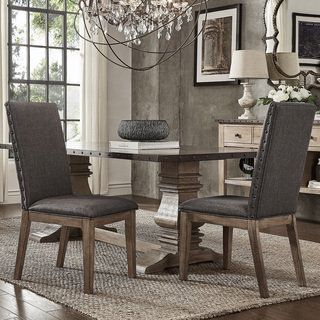 Shop For SIGNAL HILLS Voyager Wingback Nailhead Tufted Dining Chairs ( Set  Of 2).