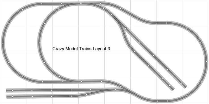 Layout #003 Bachmann Ho Ez Track (ns) de prata níquel - 4' X 8' Novo-Trenzinho   Brinquedos e hobbies, Modelos de trens e ferrovias, Escala HO   eBay!