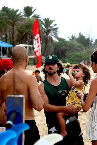 Eddie Vedder with Olivia
