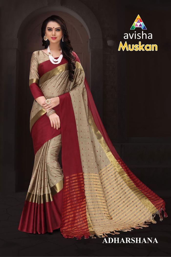 6d8ea08238 avisha muskan - soft silk cotton sarees with butta | Soft Silk ...