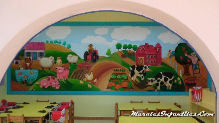 mural para salón de jardín de niños   MURALES INFANTILES ...