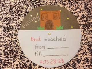 Paul Arrives in Rome Children's Bible Lessons Acts 28:12-31 Paul preached from morning until night craft. #ChurchCraft #ChildrensChurch #SundaySchool
