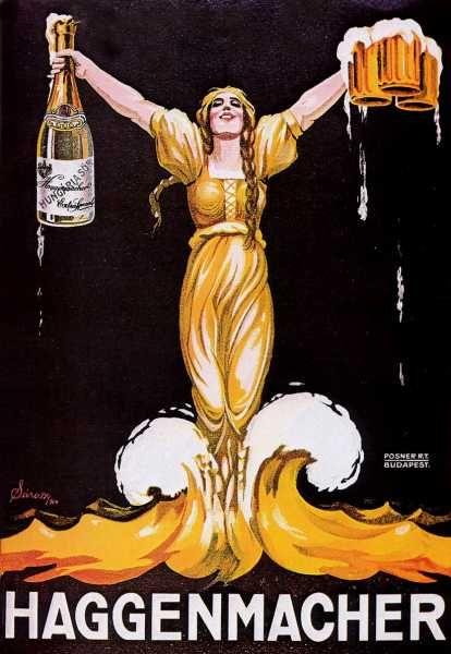 Haggenmacher sör reklámplakát nosztalgia poszter