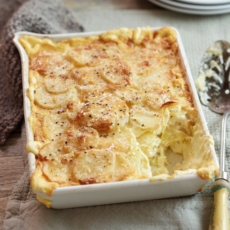 This classic, creamy potato dish is a perfect partner for spring lamb, grilled steaks, chops or even a simple roast chicken. Long, slow cooking ensures the potatoes are cooked through before the cream has evaporated