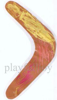 playfulljoy: Aboriginal Chalk Art, boomerang