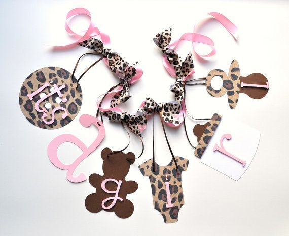 Cheetah Baby Shower Decorations Leopard And Baby By ParkersPrints