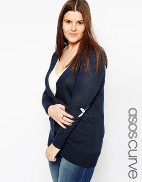 ASOS CURVE Cardigan with Star Elbow Patch