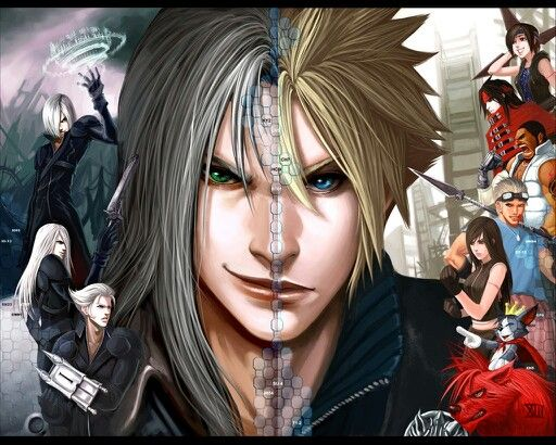 Final Fantasy VII - Sephiroth x Cloud Strife - Clephiroth