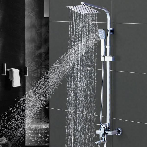 Wall Mounted Shower Faucet Bathroom Rainfall Shower System Set