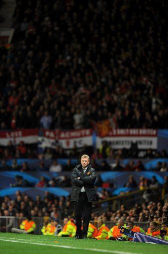 Manchester United manager David Moyes on the touchline