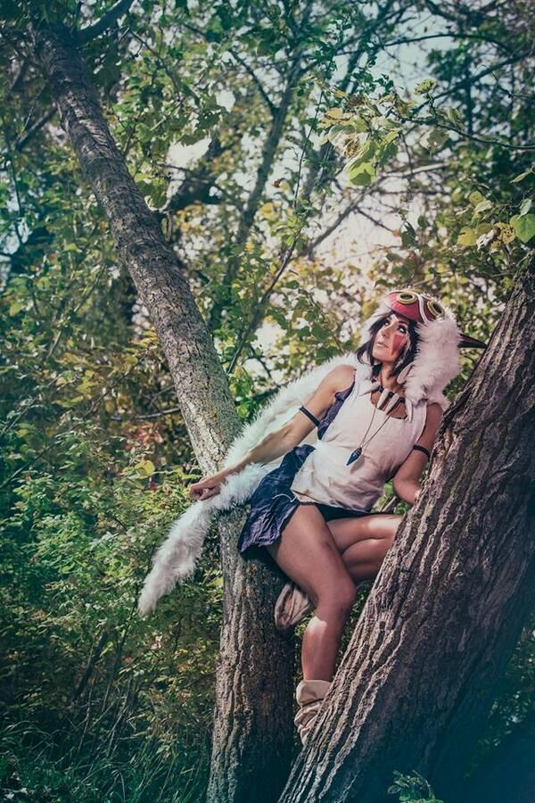 San, Princess Mononoke. Not quite true to the film timeline, but still looks pretty good.