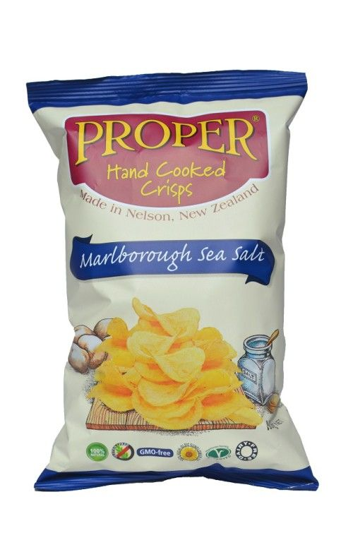 Proper Crisps are dairy and nut free with no added preservatives or additives. Just potato, sunflower oil and sea salt.