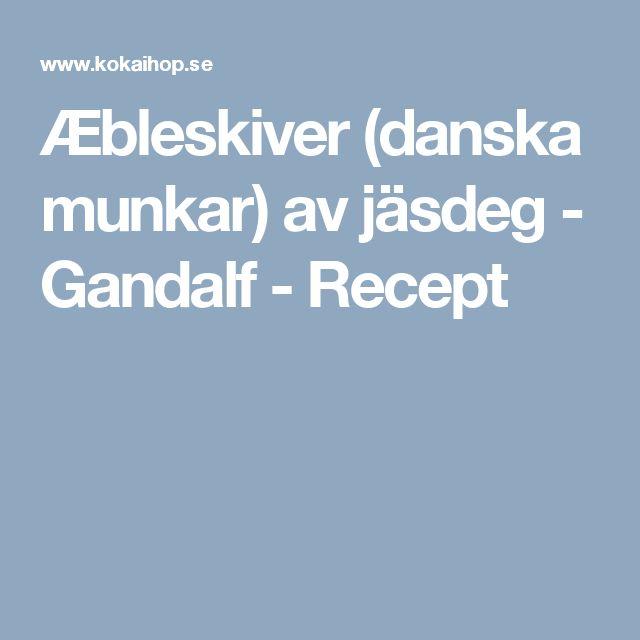 Æbleskiver (danska munkar) av jäsdeg - Gandalf - Recept