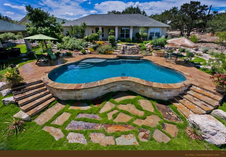 Backyard with Above Ground Pool Design Ideas