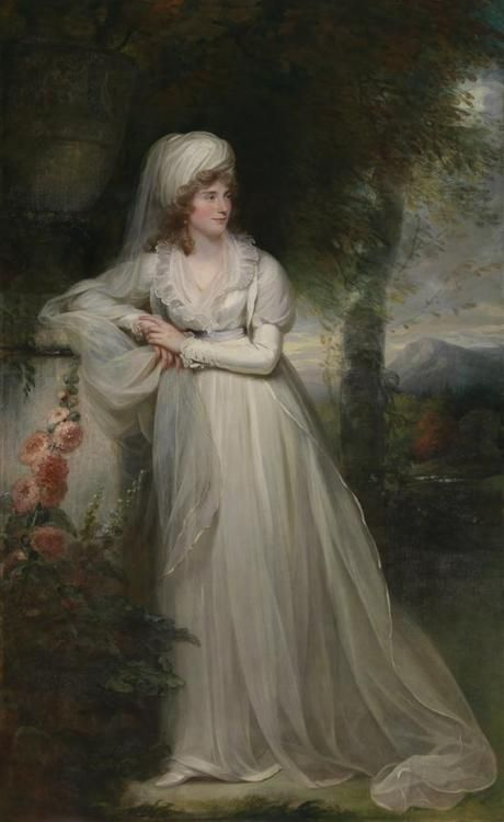 history-of-fashion:  1796 William Beechey - Lady Rous née Charlotte Maria Whittaker, second wife of the 6th Baronet, later, Earl of Stradbroke