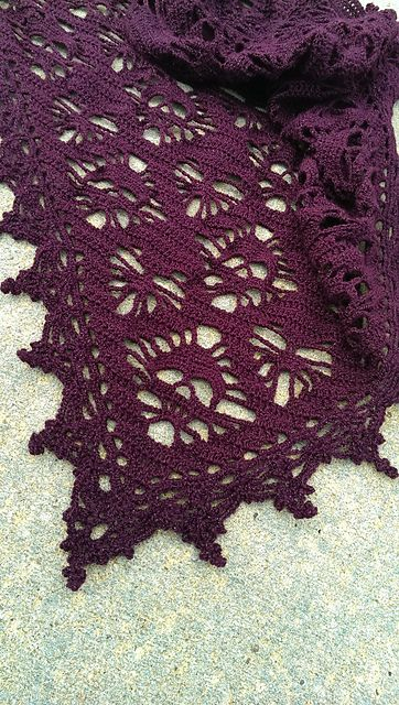 crochet Ravelry: Skull & Hearts Shawl pattern by Meghan Davis                                                                                                                                                      More