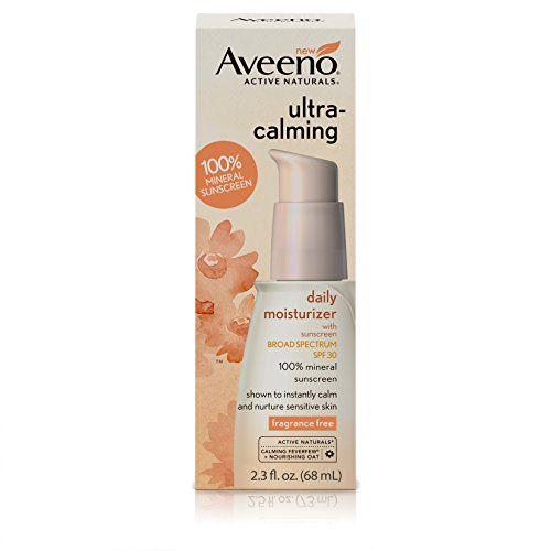Aveeno Ultra-Calming Daily Fragrance-Free Moisturizer for Sensitive Skin with SPF 30, 2.3 fl. oz #Aveeno #Ultra #Calming #Daily #Fragrance #Free #Moisturizer #Sensitive #Skin #with