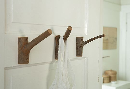 These would be perfect for my sons' woodland themed bathroom...we'll look for branches on our next hike.