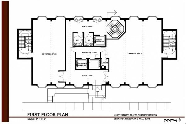 Commercial Office Building Floor Plans